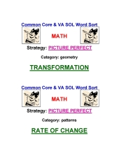 Common Core Math Word Sort 6-12