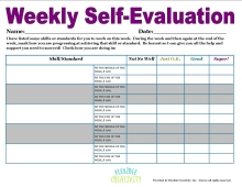 Student Weekly Self-Evaluation