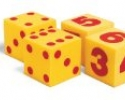 Giant Soft Cubes Dot, Numeral and Operations Sets