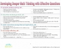 Developing Deeper Math Thinking with Effective Questions